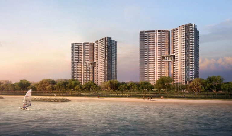 Seaside Residences view from sea