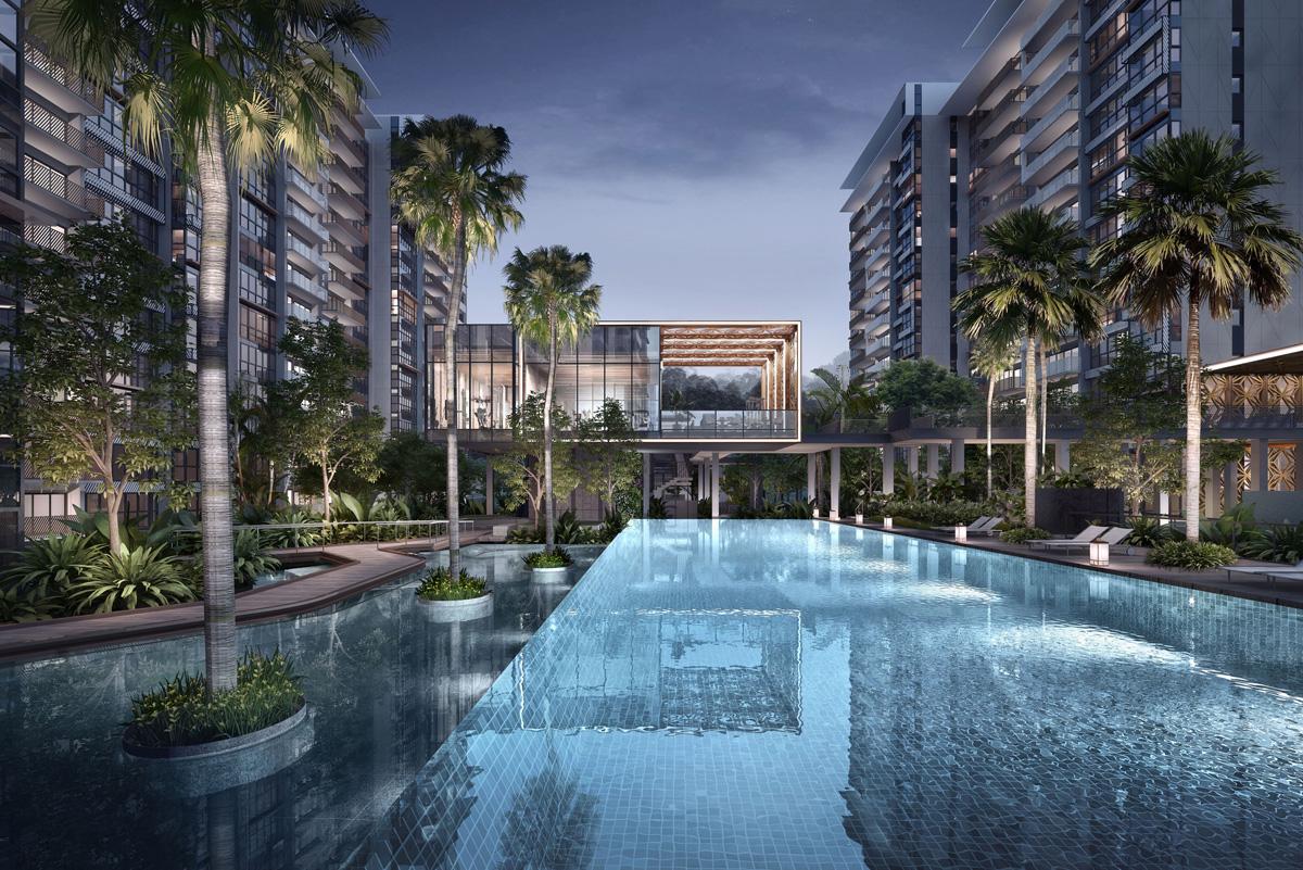 Main Swimming Pool Of OLA Executive Condo