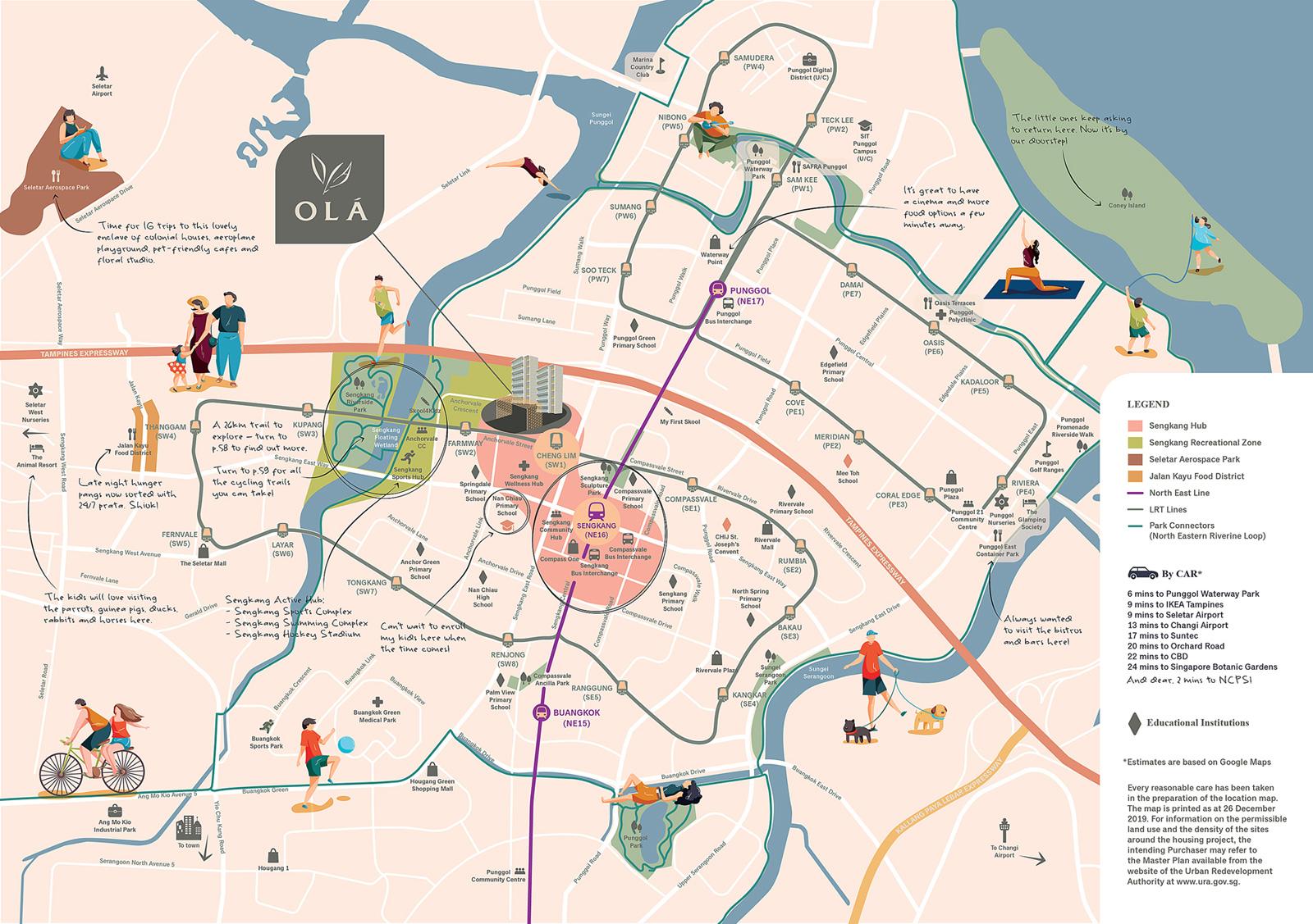 Location Map of OLA Executive Condominium(EC)