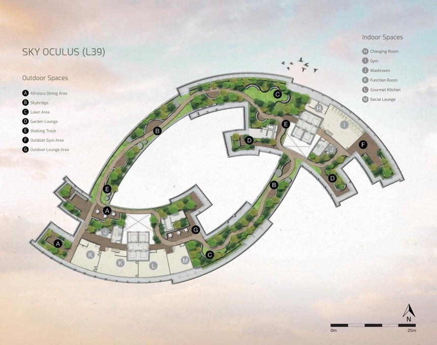 39th floor layout Facilities & Gardens