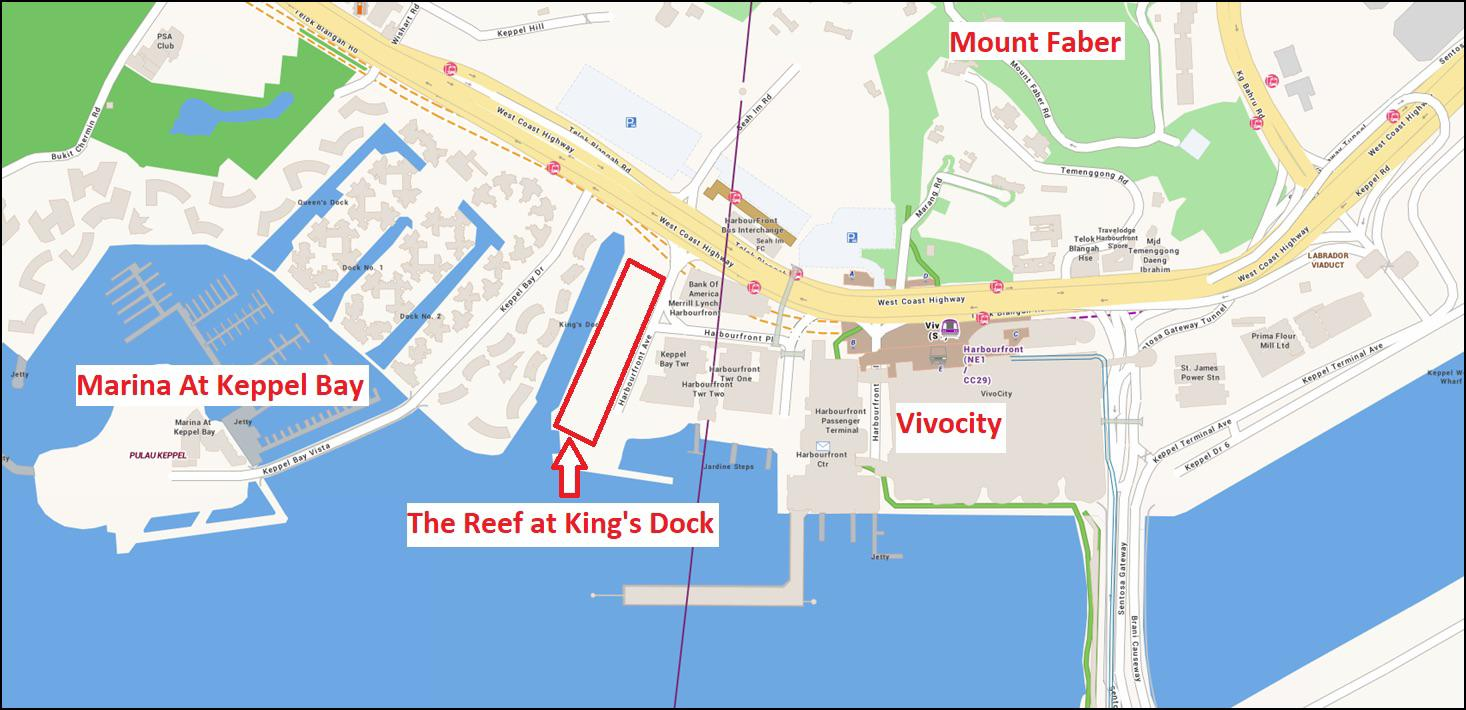 The Reef At King's Dock (D04) Location Map