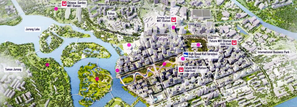 Attraction of D22-28 Condo For Sale, Jurong Lake District Singapore's New CBD