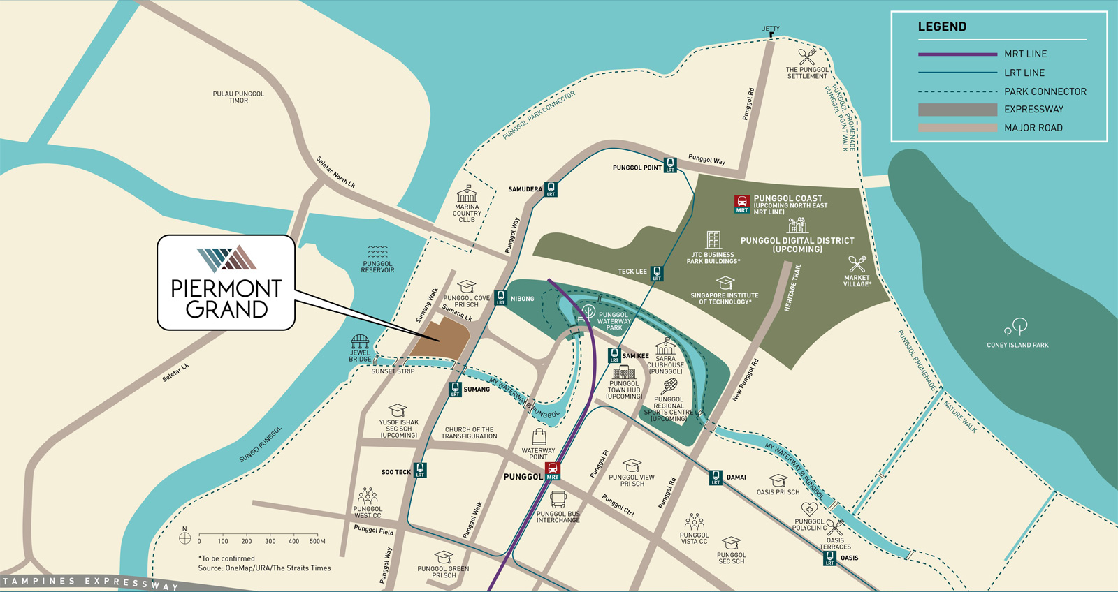 Piermont Grand EC, Location Map