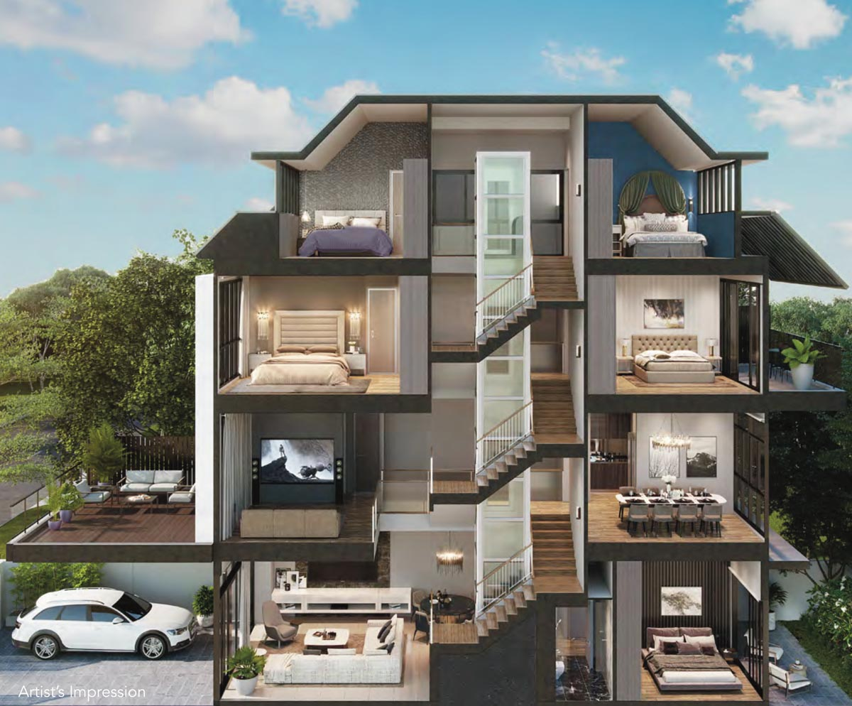 Cross Section -Luxus Hills Contemporary Collection