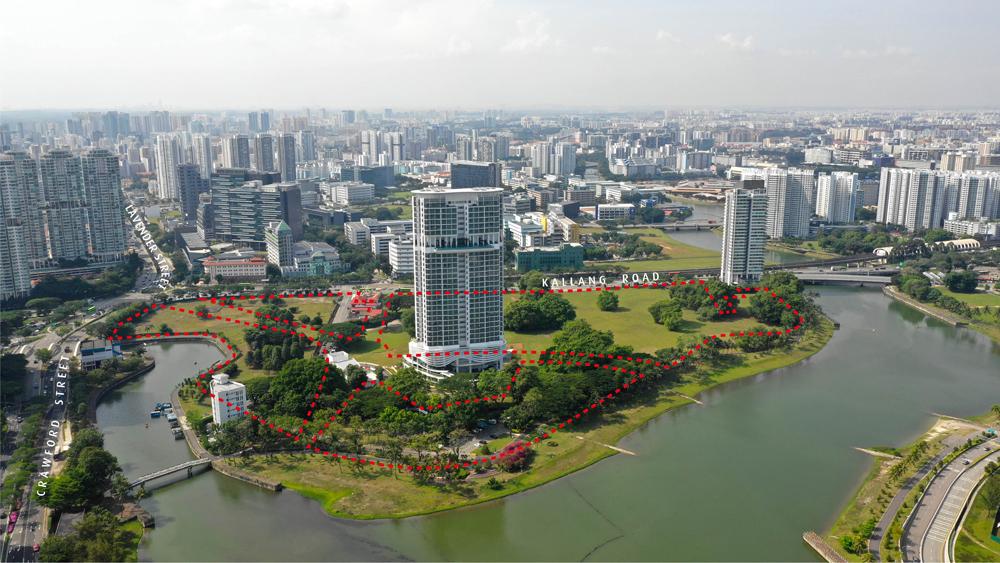 Kampong Bugis Land Sales Aerial View