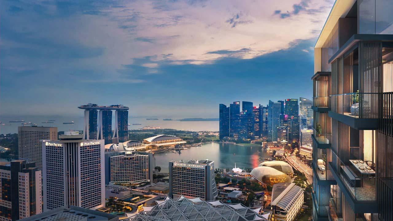 Midtown Bay view towards singapore Marina Bay vicinity