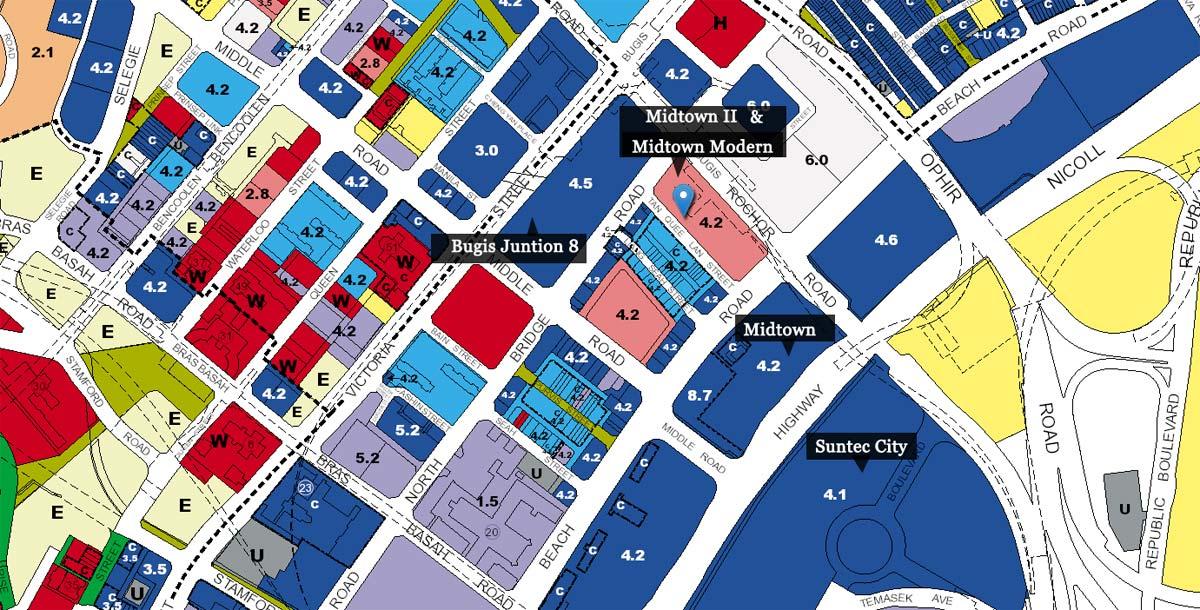 Land Use of Midtown Modern (D01) Bugis New Launch