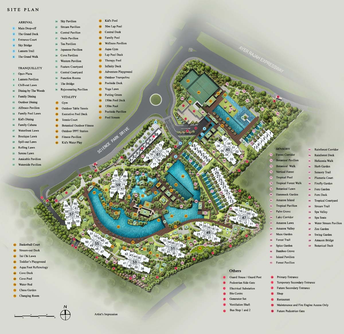 Site Plan of Normanton Park (Please Click to Enlarge)