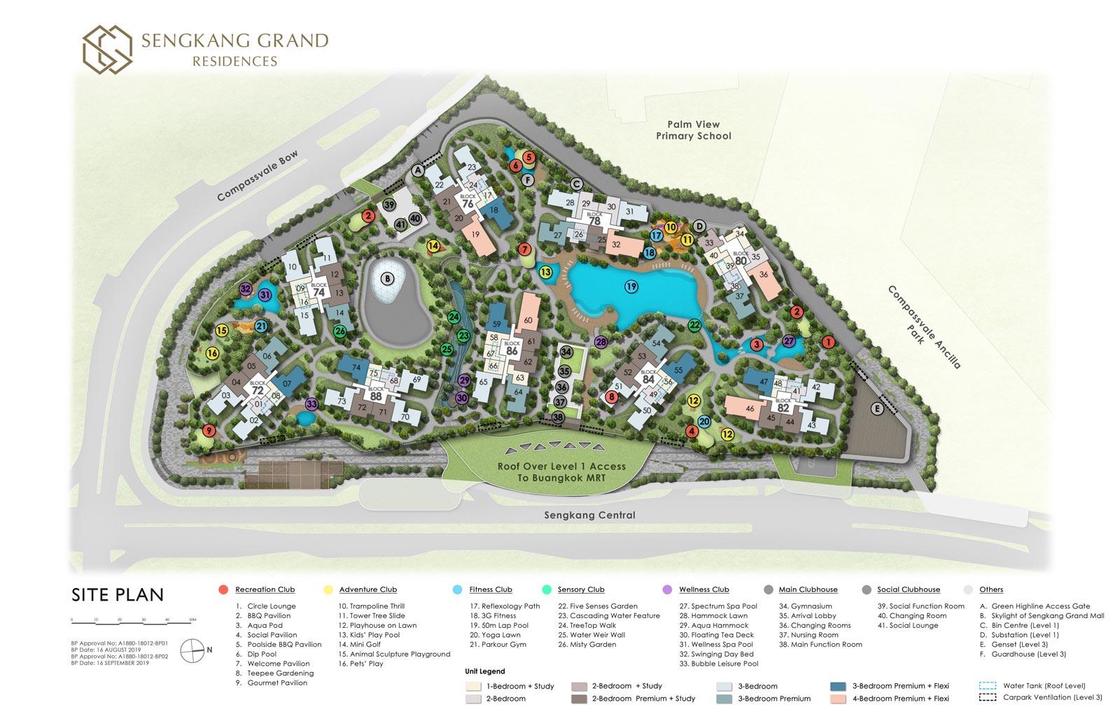 Sengkang Grand residences' Siteplan