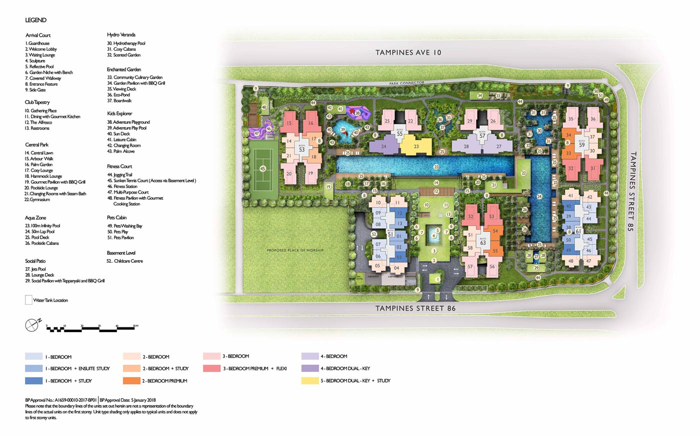 Site Plan of Tapestry