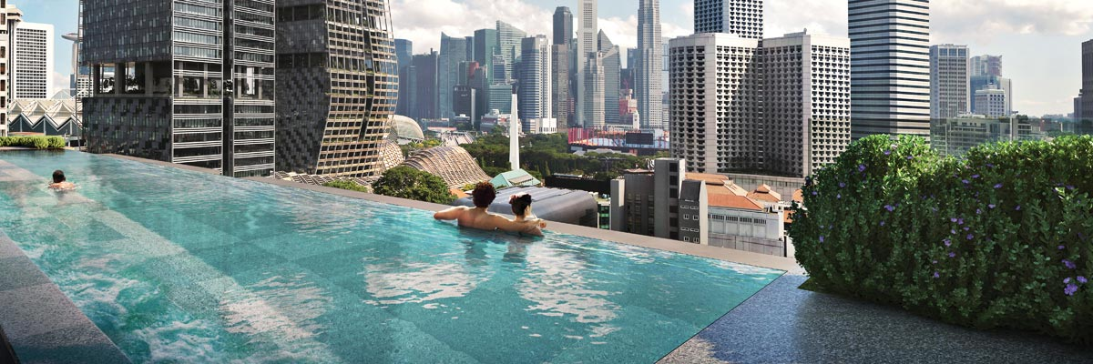 Roof Deck Pool of The M Singapore