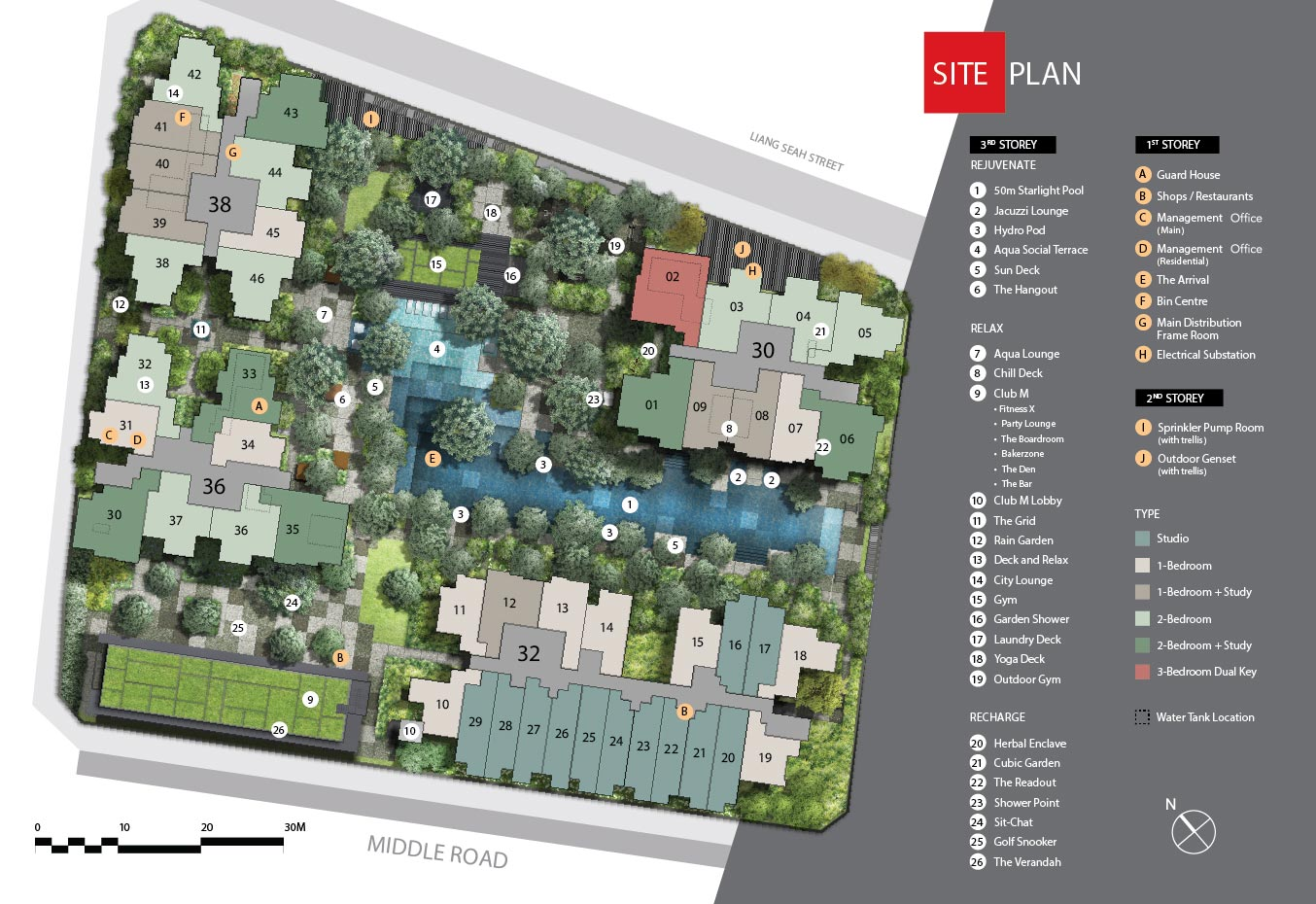 Sitemap of The M Singapore