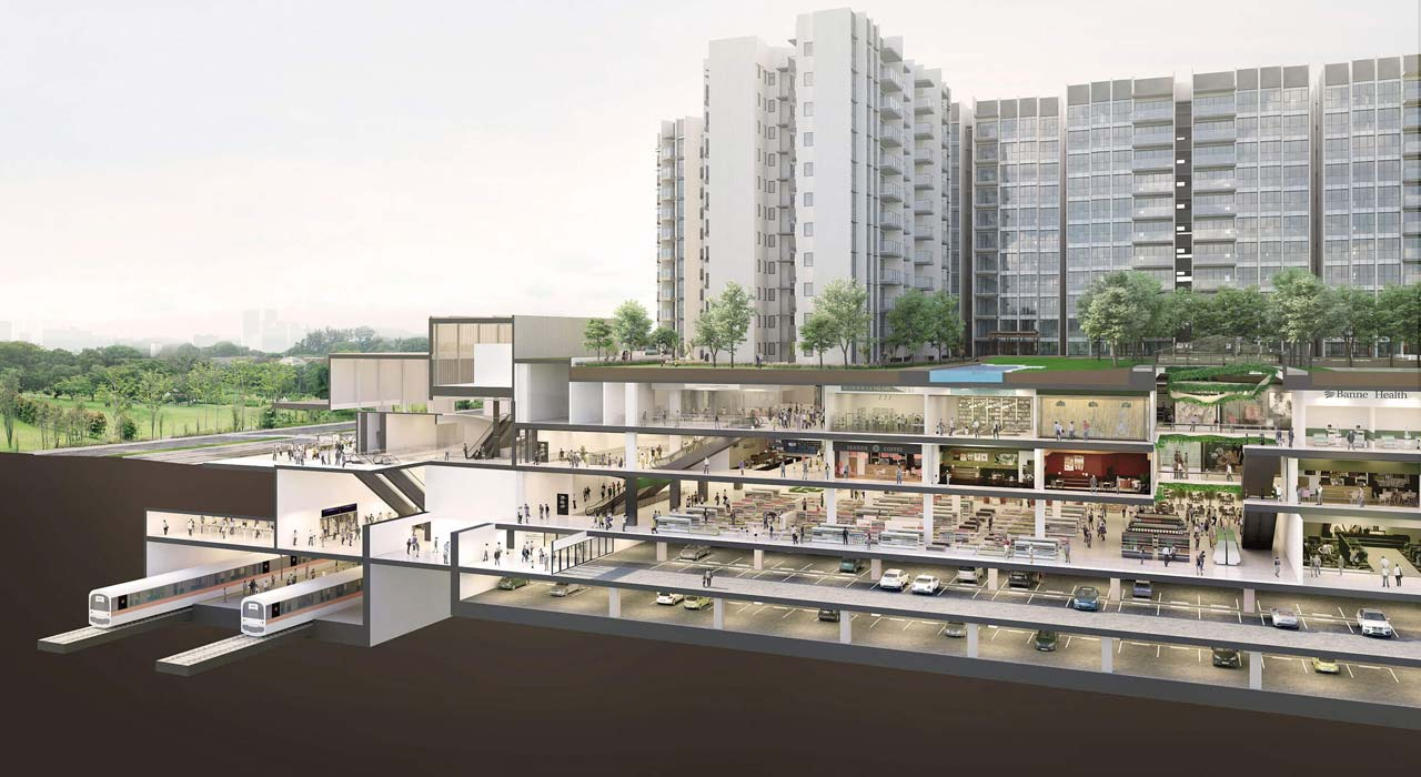 Woodleigh Mall - Woodleigh Residences Cross Section