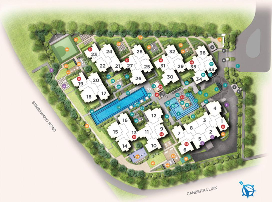 Site Map of Provence Residence EC