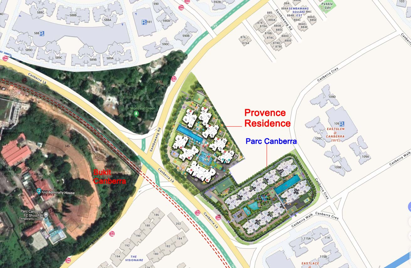 Site Surrounding map of Provence Residence EC
