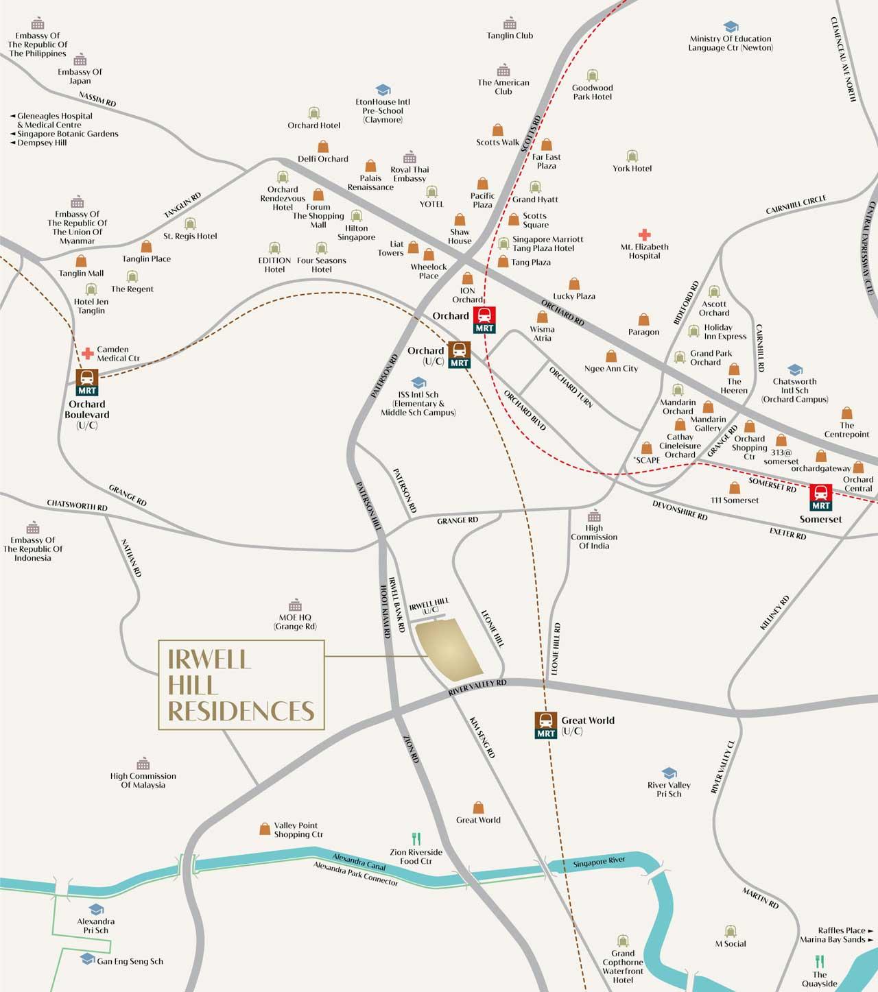 Irwell Hill Residences Location