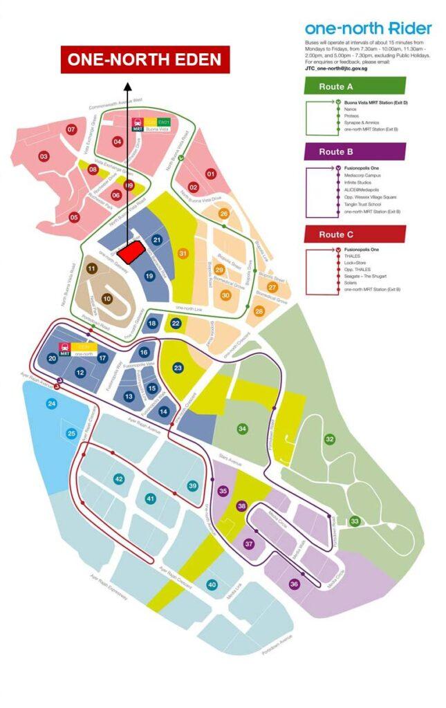 One North Eden Map