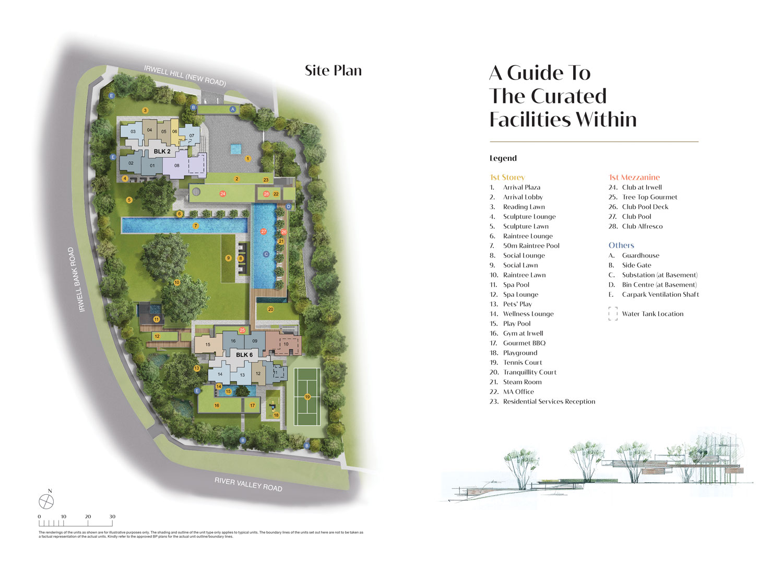 Site Plan Level 1 of Irwell Residences