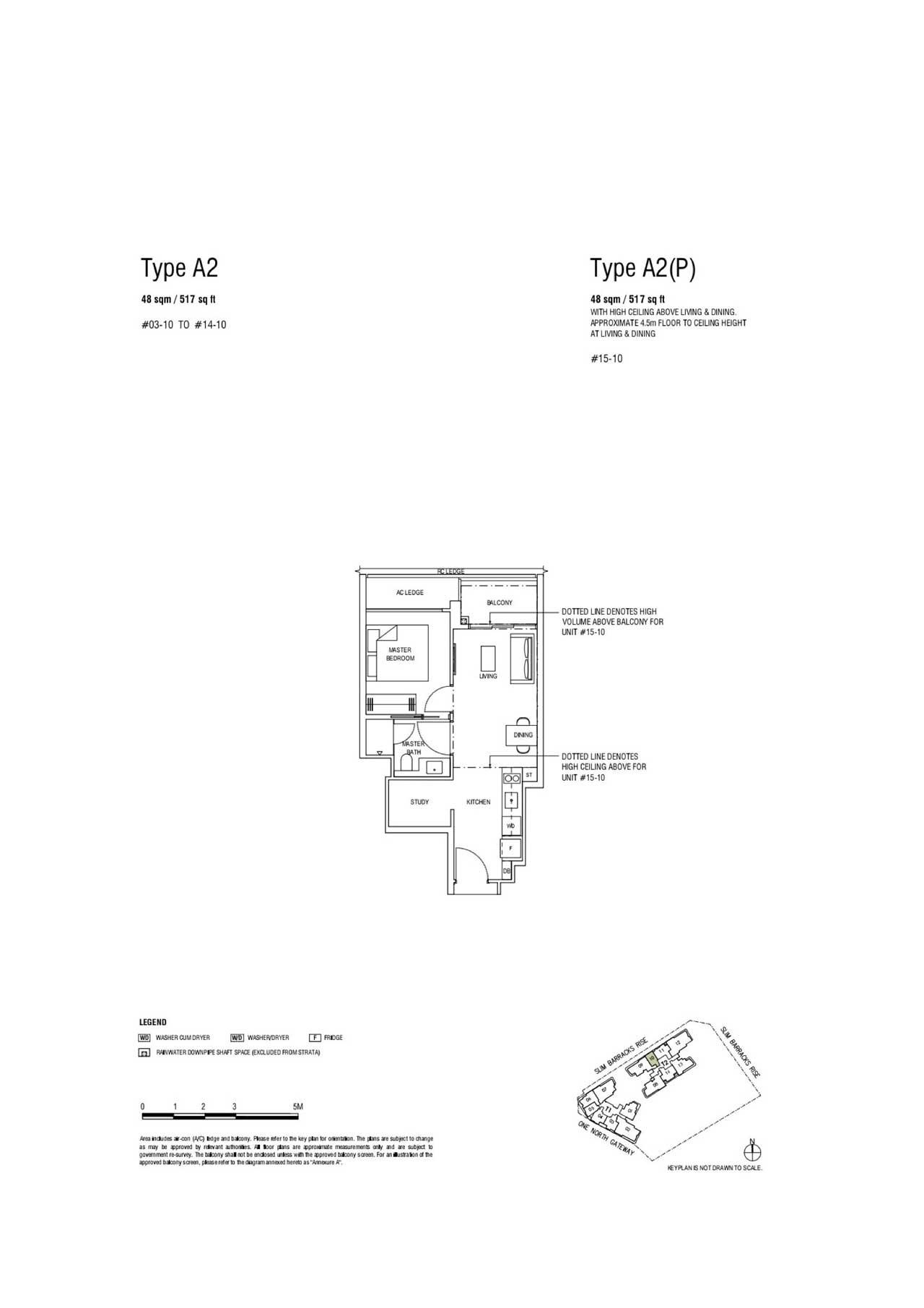 1+Study type A2 - One North Eden Floor Plan, Showflat Layout