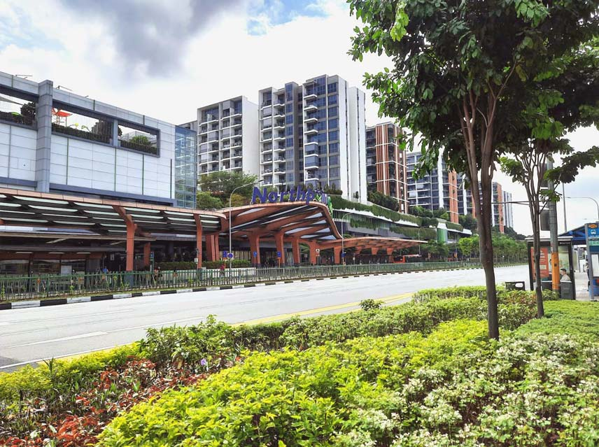 Northpoint City mixed development with shopping mall & North Park Residences apartments