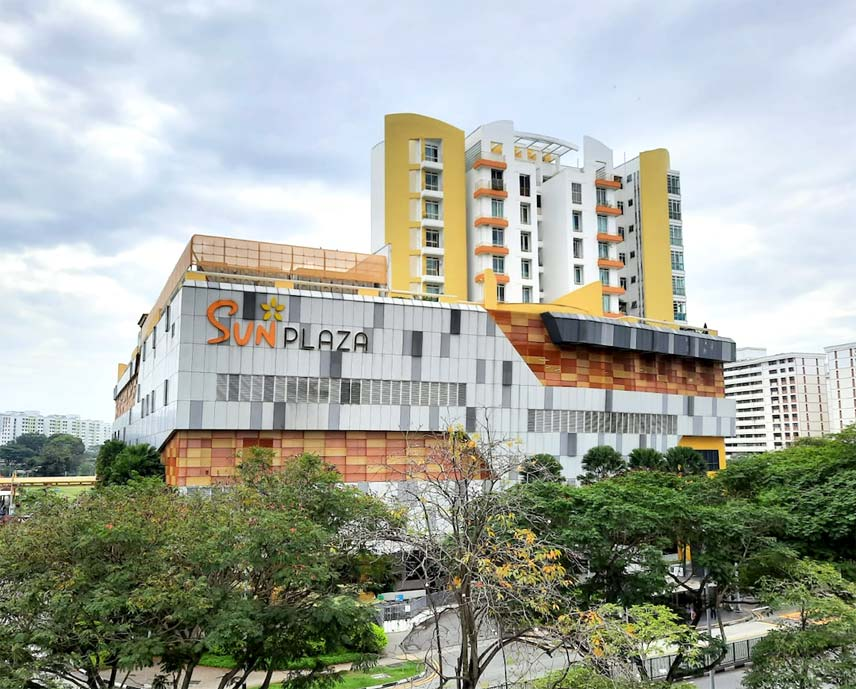 Sun Plaza Mall with Sun Plaza Apartments on top