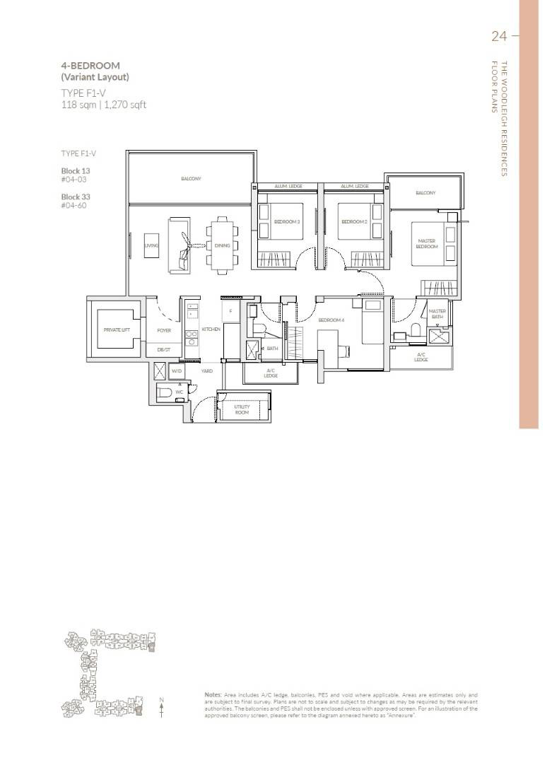 The Woodleigh Residences Showflat F1-V 118 sq m : 1270 sq ft
