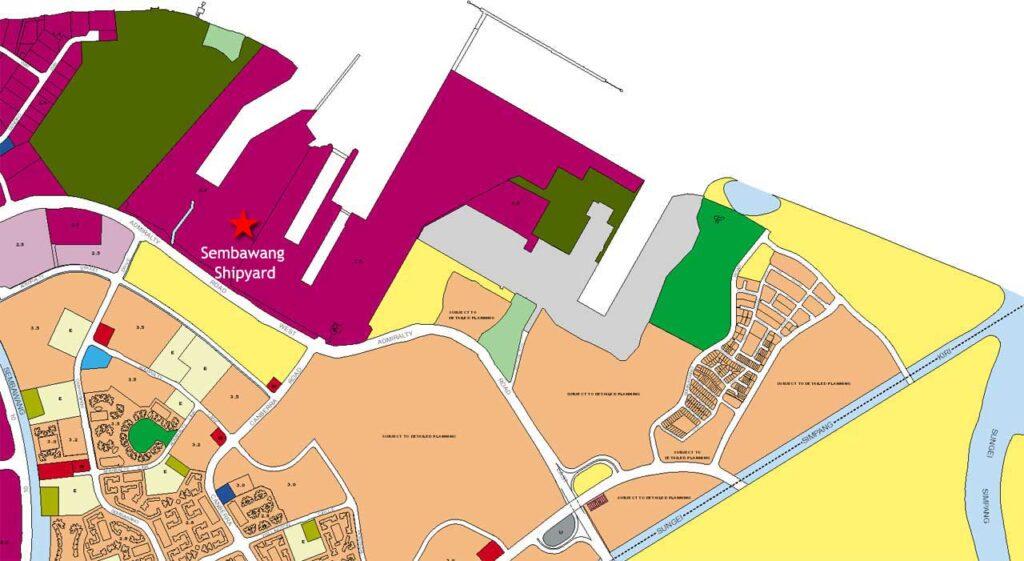 Sembawang- Shipyard in Master Plan 2008
