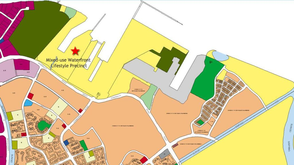 Future Watergardens At Canberra Price will be effected by the development of Mixed-use Lifestyle Precinct at Existing Sembawang Shipyard in Master Plan 2019