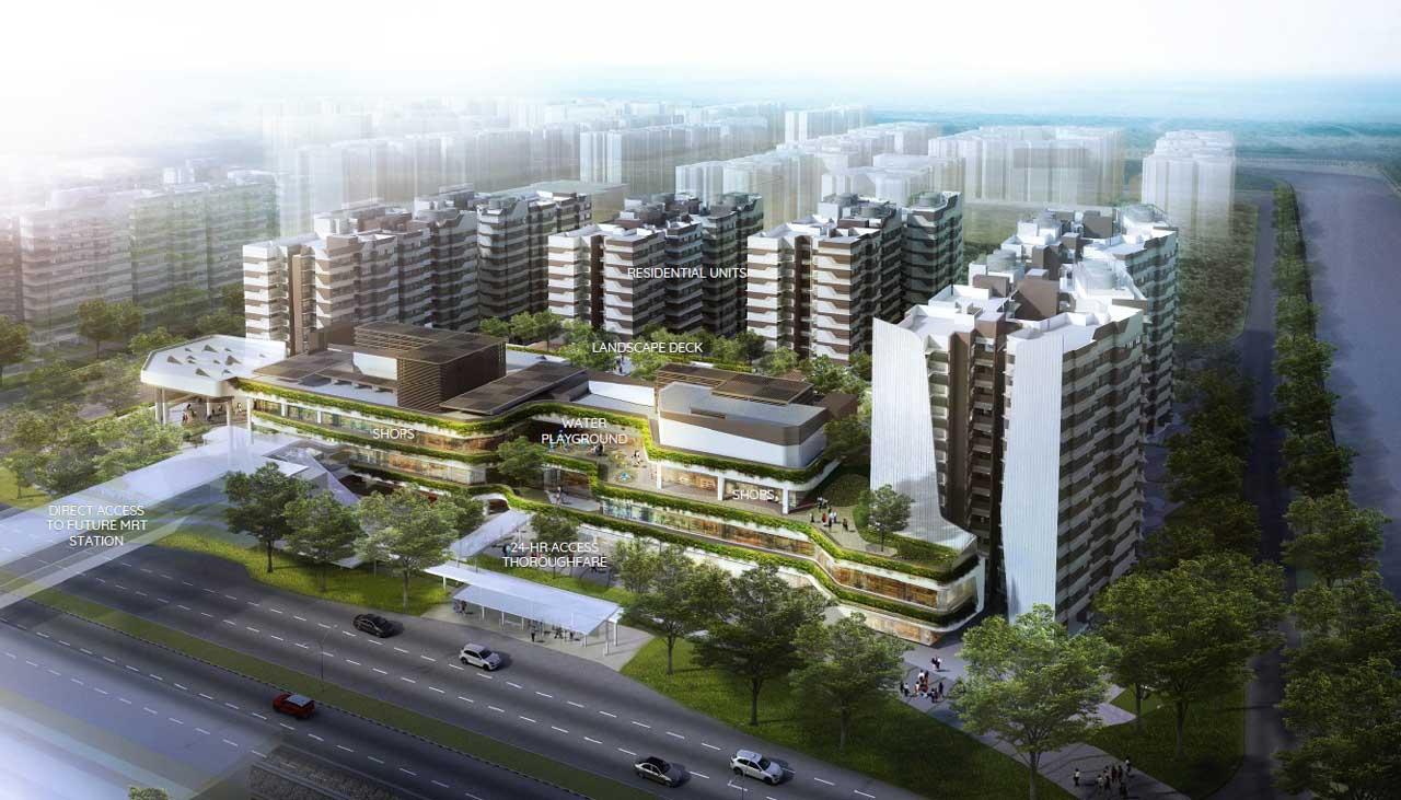 Watergardens At Canberra price will be sustainable as it located near MRT & Canberra Plaza