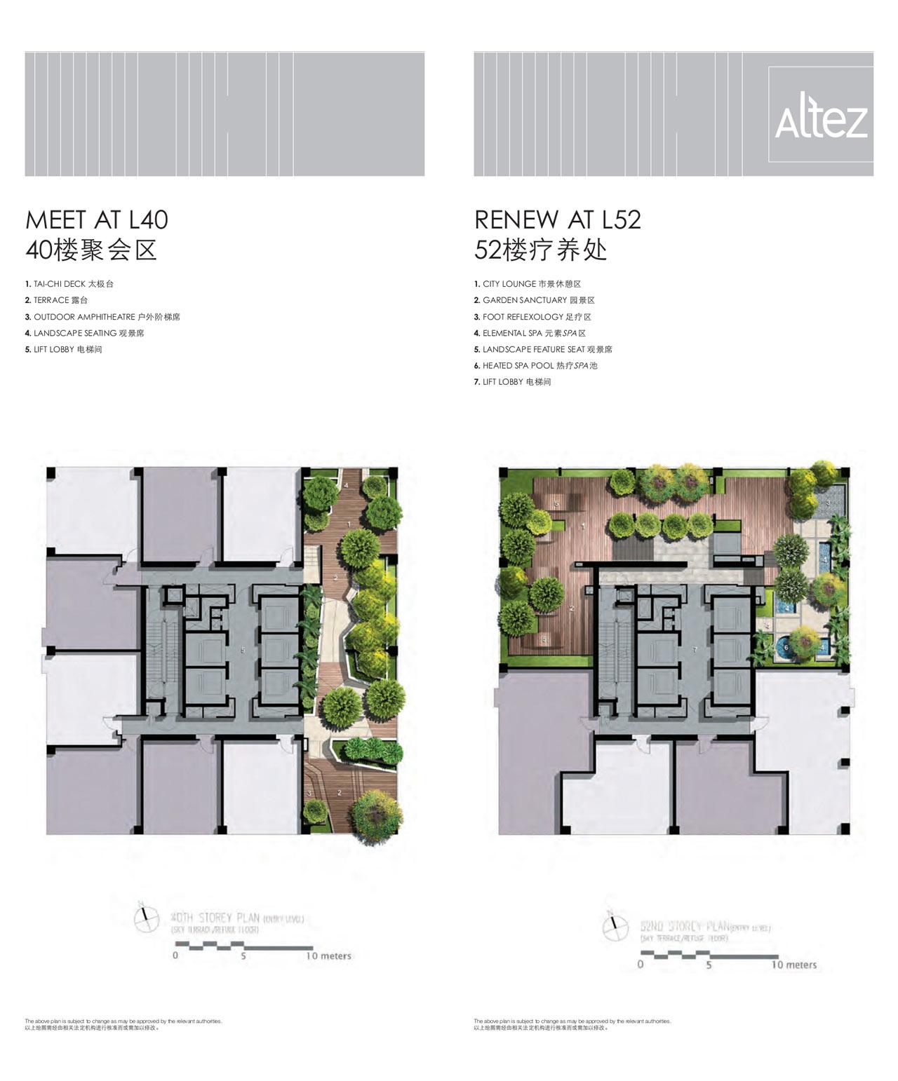 Site Plans Level 40 & Level 52