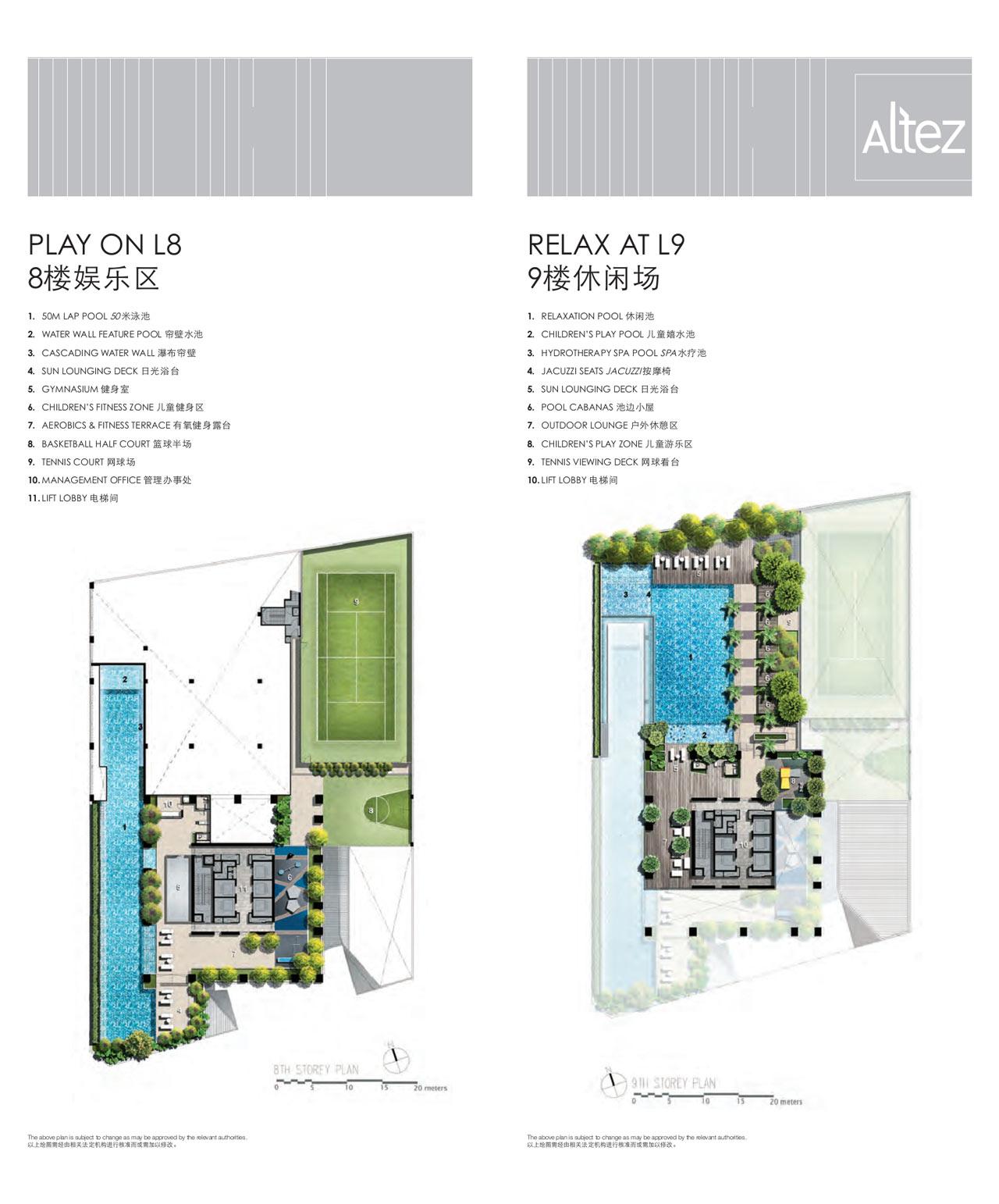 Site Plans Level 8 & Level 9