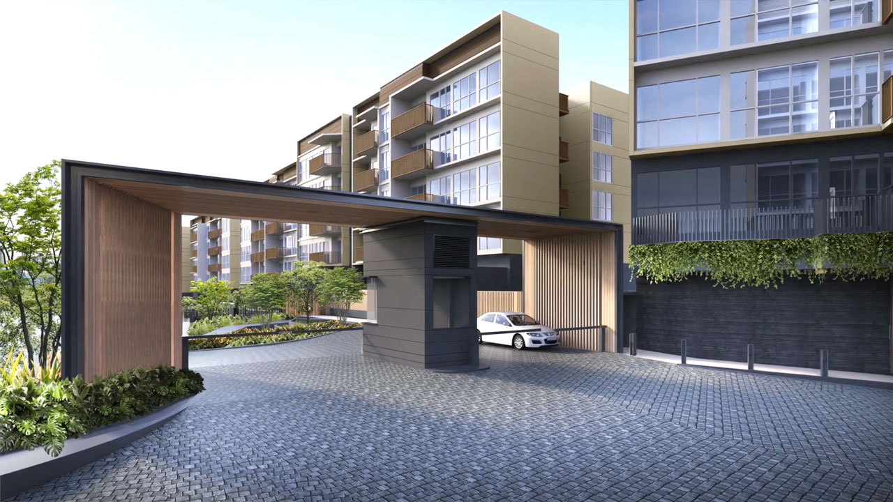 Main Entrance of The Watergardens At Canberra Condo