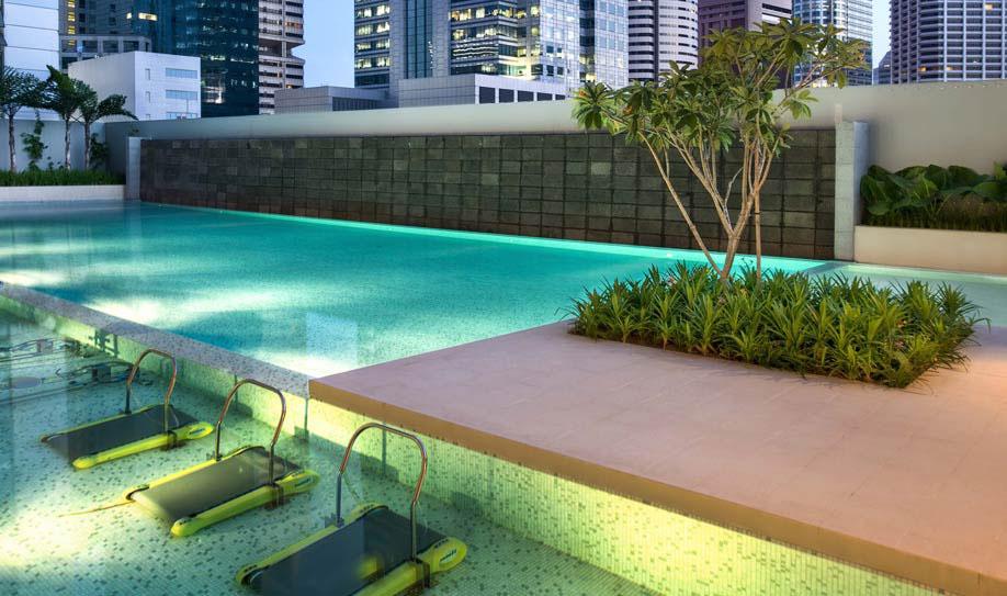 The Clift Main Pool, Jacuzzi & Aqua Gym on 10th Floor